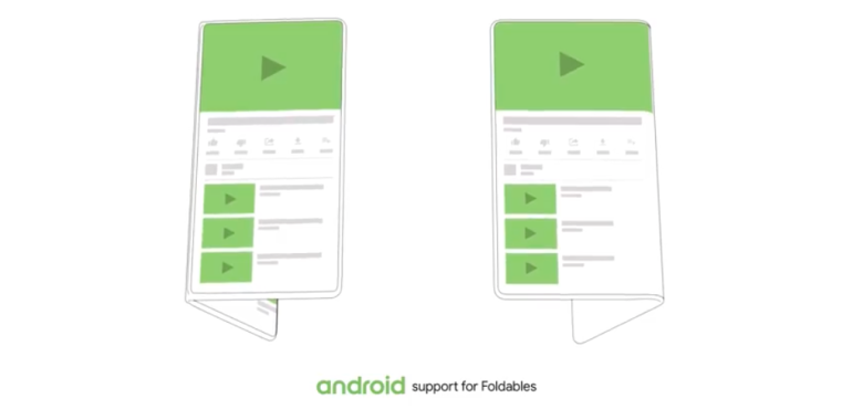 Google Android foldable software UI hero size