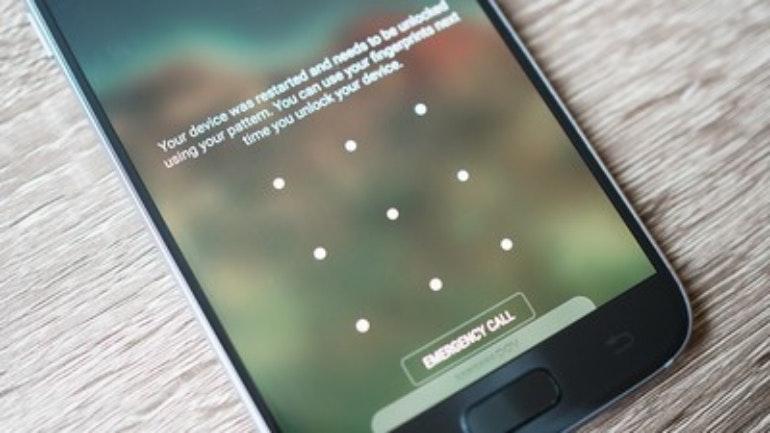 Galaxy S7 security password