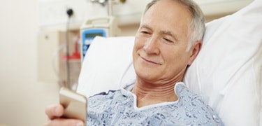 Using your phone in hospital