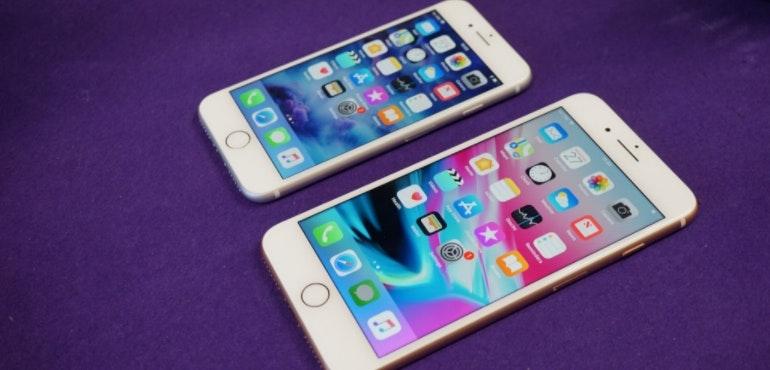 iPhone 8 and 8 Plus home screens hero image