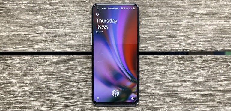 image of the oneplus nord 2 with its lock screen turned on