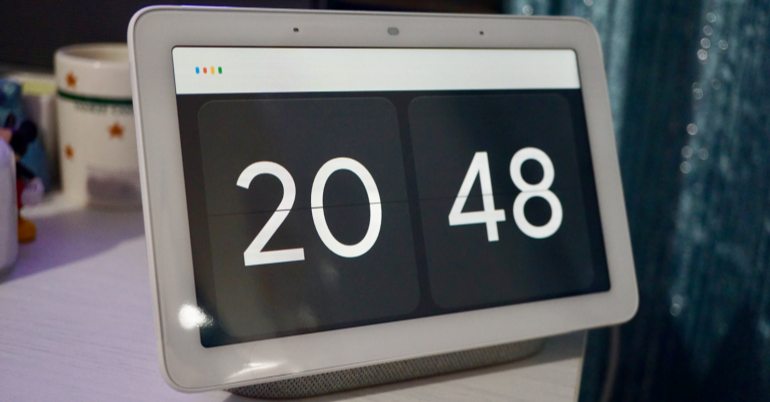 Google Home Hub Google listening time