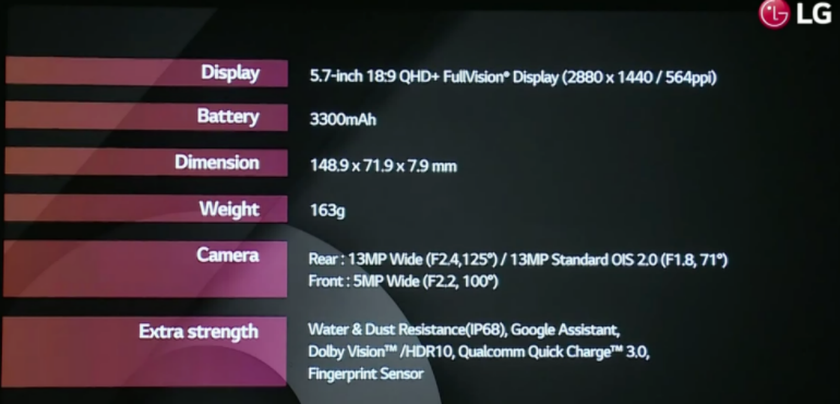 LG G6 specs