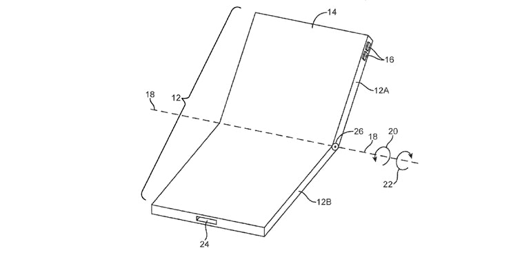 Folding iPhone patent