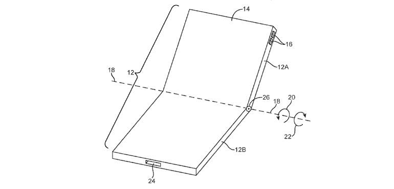 Folding iPhone patent