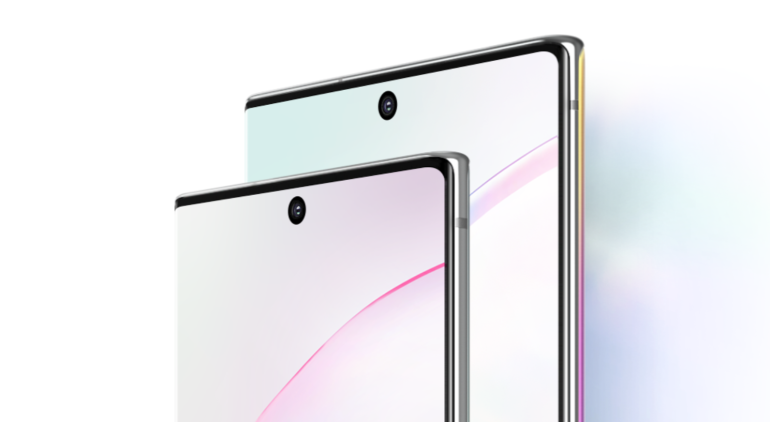 Samsung Galaxy Note 10 and Note 10 Plus front cameras