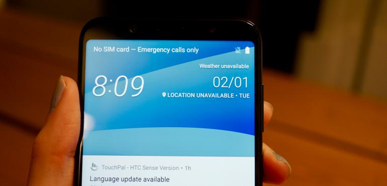 HTC U12 Life homescreen hero size