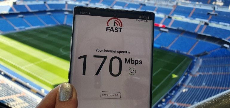 Vodafone 5G in Bernabeu Madrid