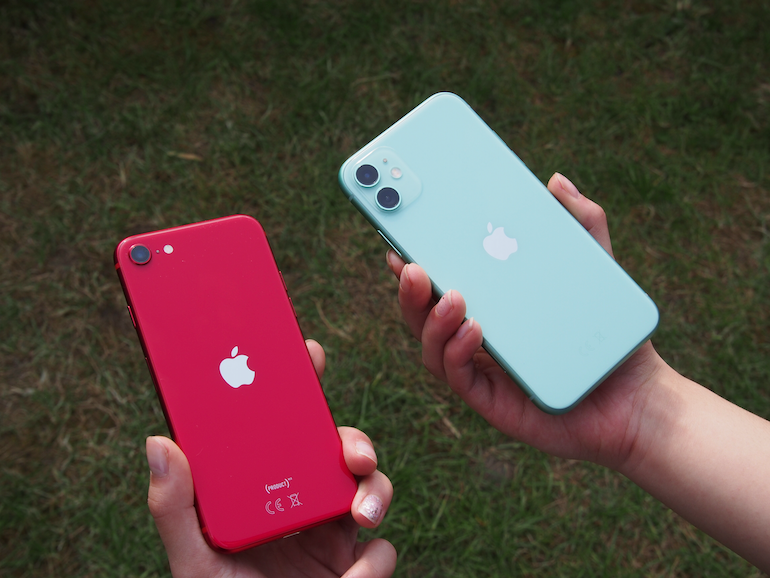 iPhone SE vs iPhone 11 back