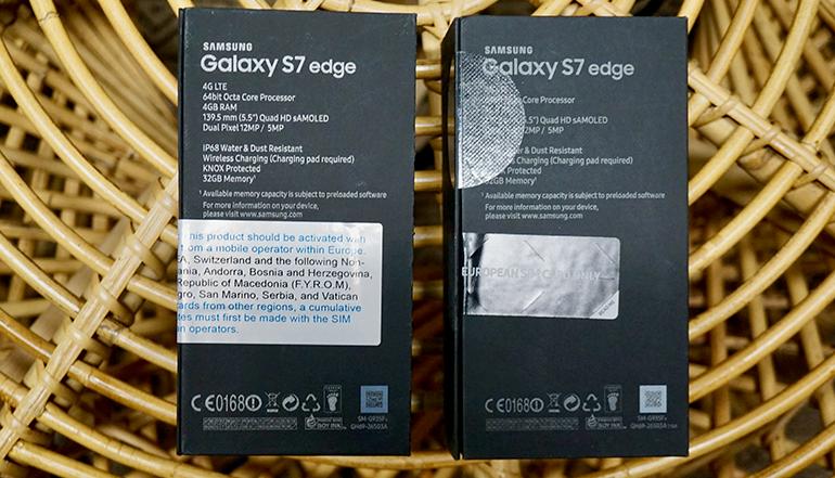 Samsung Galaxy S7 Edge vs refurbished phone unopened boxes sealed