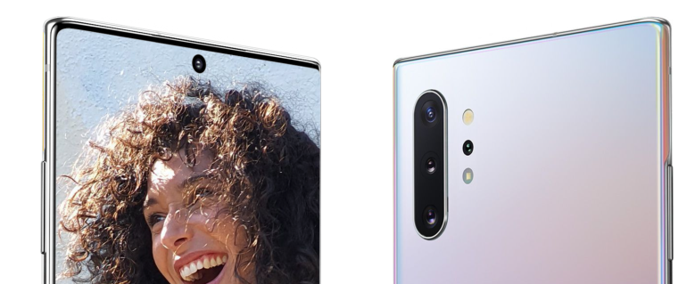 Samsung Galaxy Note 10 Plus front and back camera
