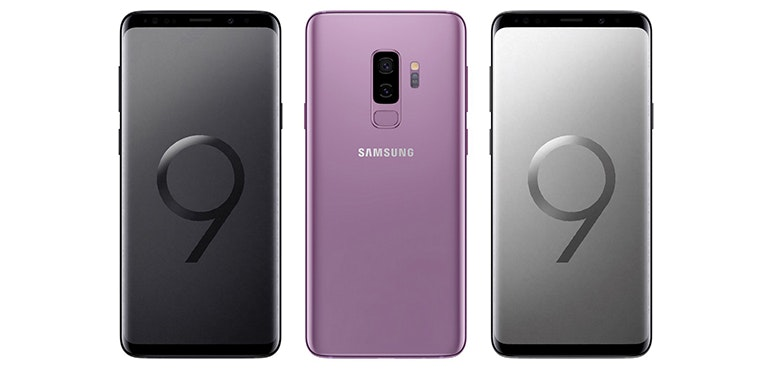 Samsung Galaxy S9 front and back