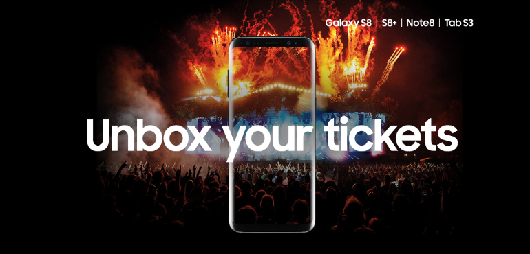 Samsung Unbox your Tickets: how to get free tickets when you buy a Galaxy S8 or Note 8
