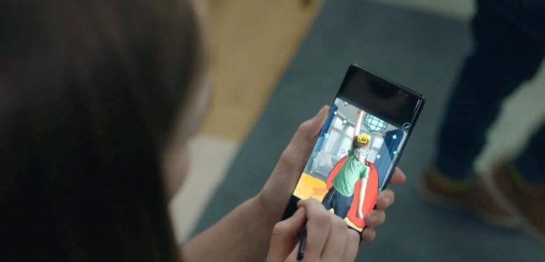 Samsung Galaxy Note 8 superhero doodle
