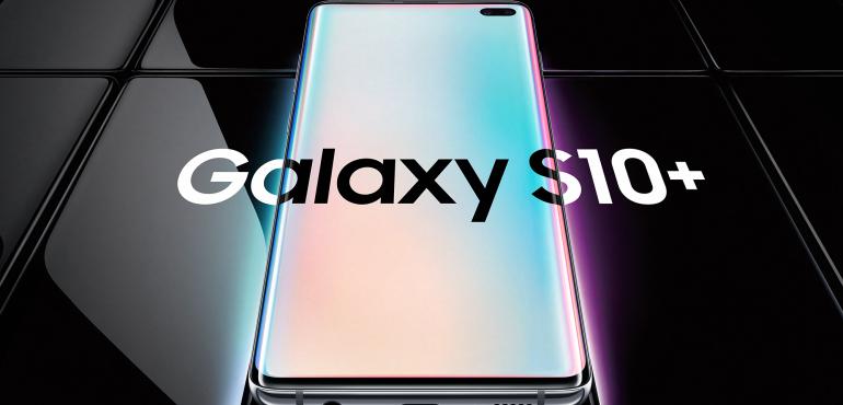 Samsung Galaxy S10 Plus pack shot hero size