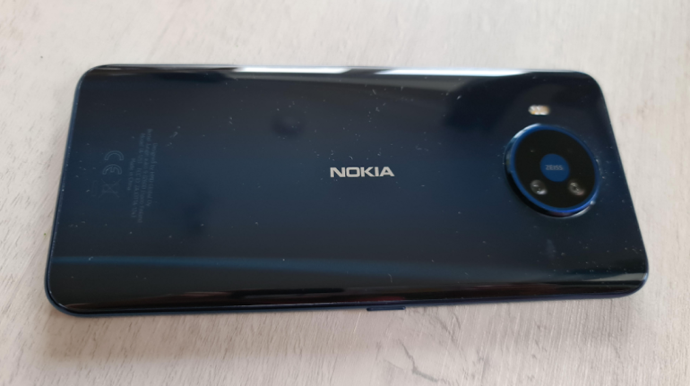 Nokia 8.3 back closeup