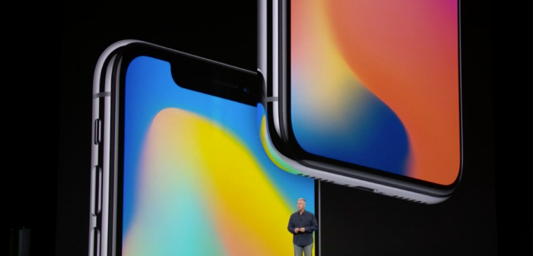 iPhone X colourful hero