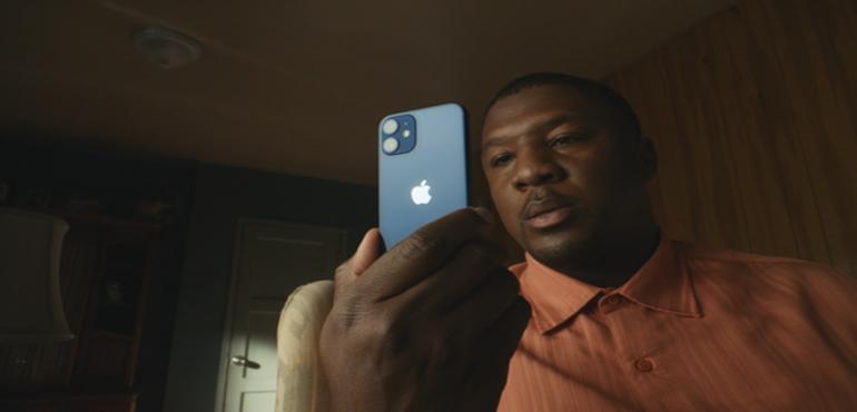iPhone 12 mini back blue