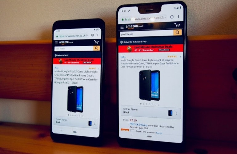 Google Pixel 3 and 3XL screens Amazon