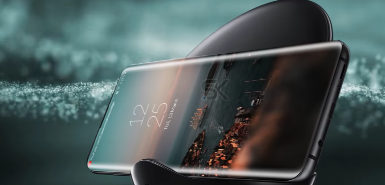 Samsung Galaxy S10 concept wireless charger hero