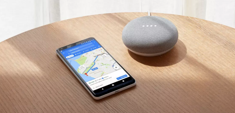 Google Pixel 2 hero size Google mini home