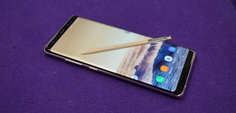 Samsung Galaxy Note 8 review hero image S-Pen stylus