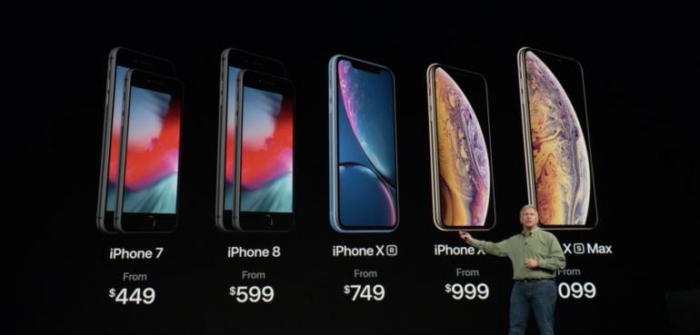 All iPhones XS XS Max and XR prices
