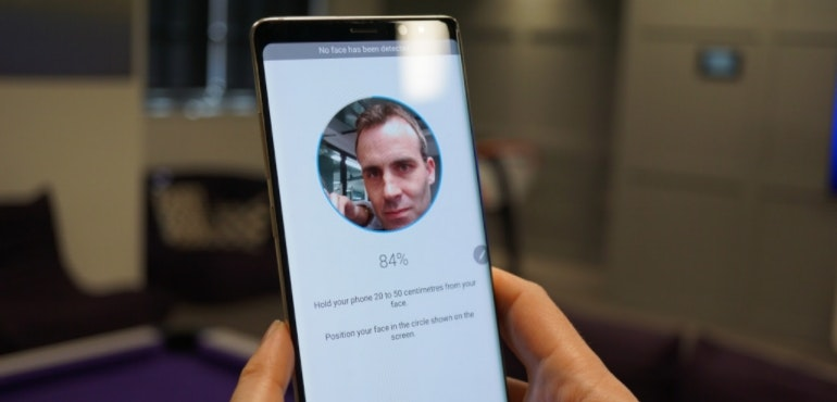 Samsung Galaxy Note 8 facial recognition tech hero size