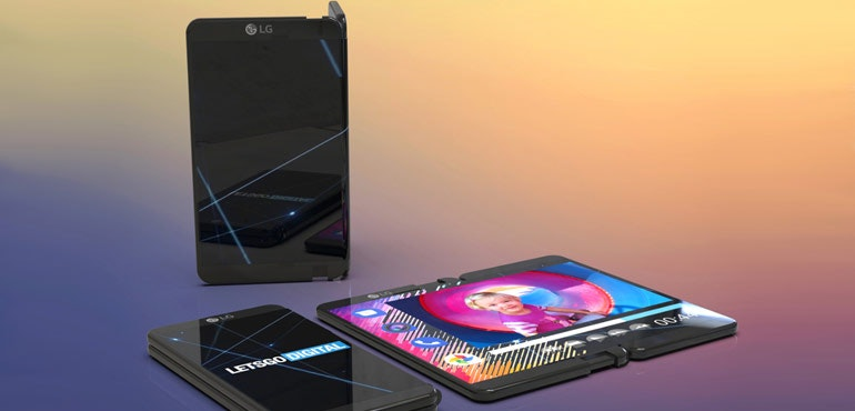 LG folding phone render