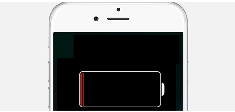 iPhone with low battery hero