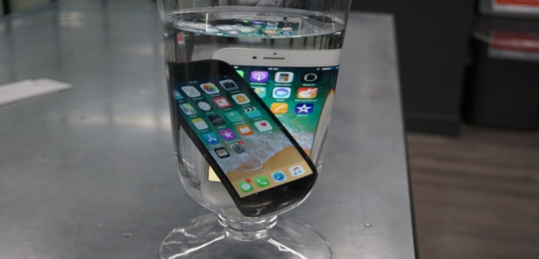 iPhone 8 water-resistant test hero size