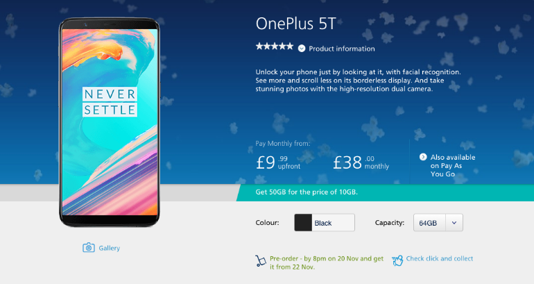 OnePlus 5T O2