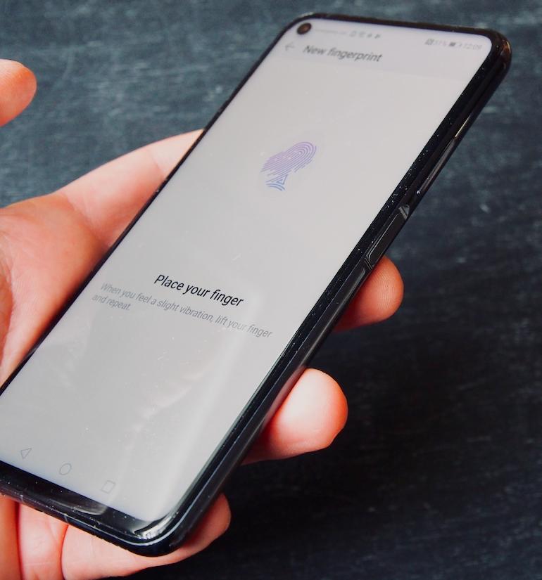 Huawei nova 5T fingerprint 2