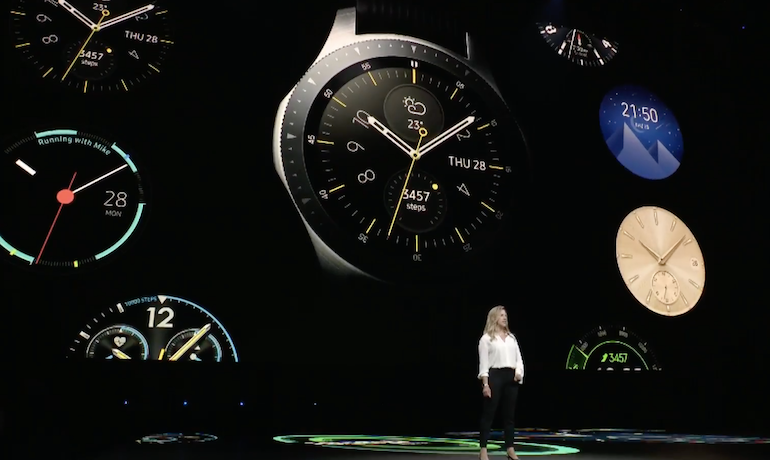 Samsung Galaxy Watch - Launch watch faces