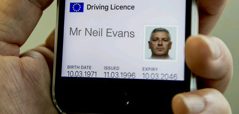 iphone driving licence