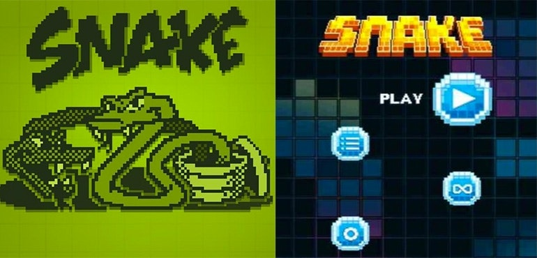 Snake and new Snake Nokia 3310
