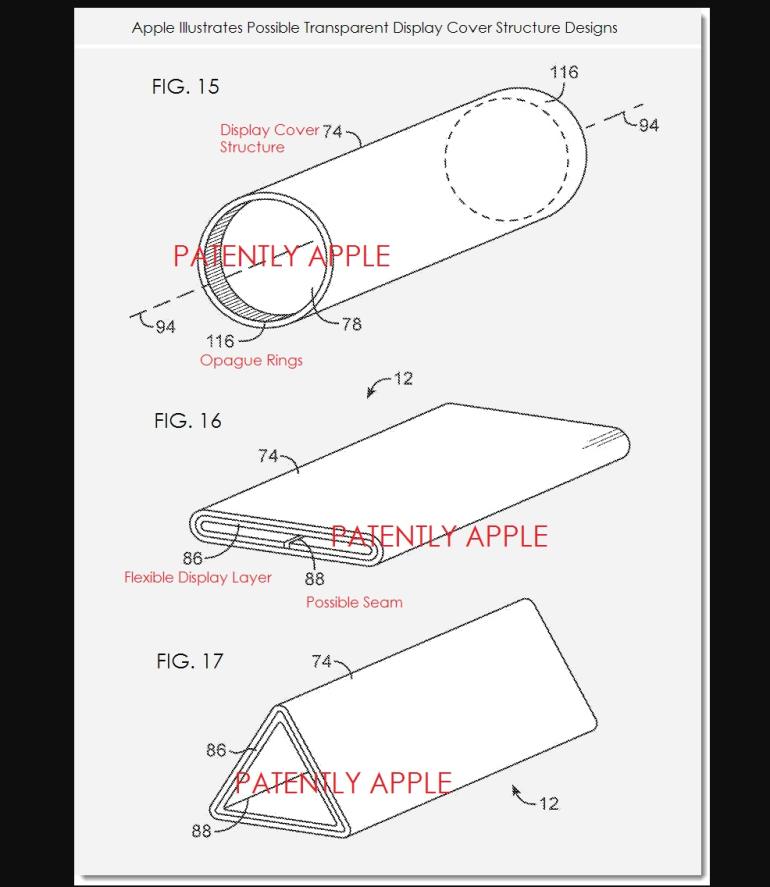 Apple iPhone foldable patent