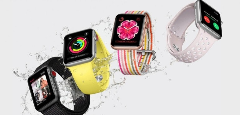 Apple Watch four different models hero size
