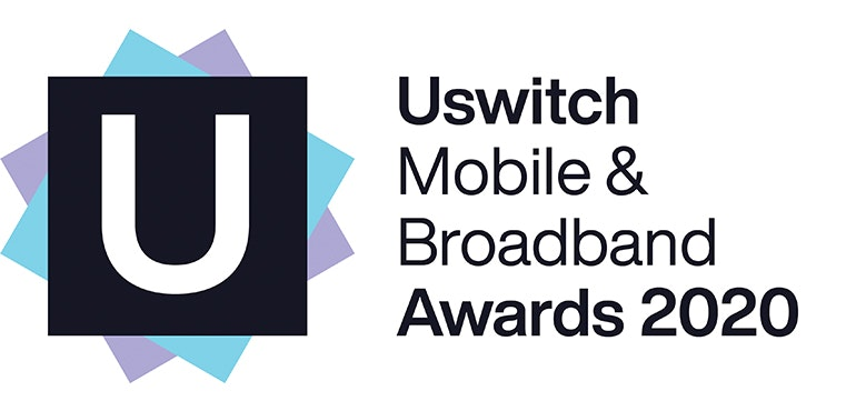 Uswitch Mobile and Broadband awards 2020 logo