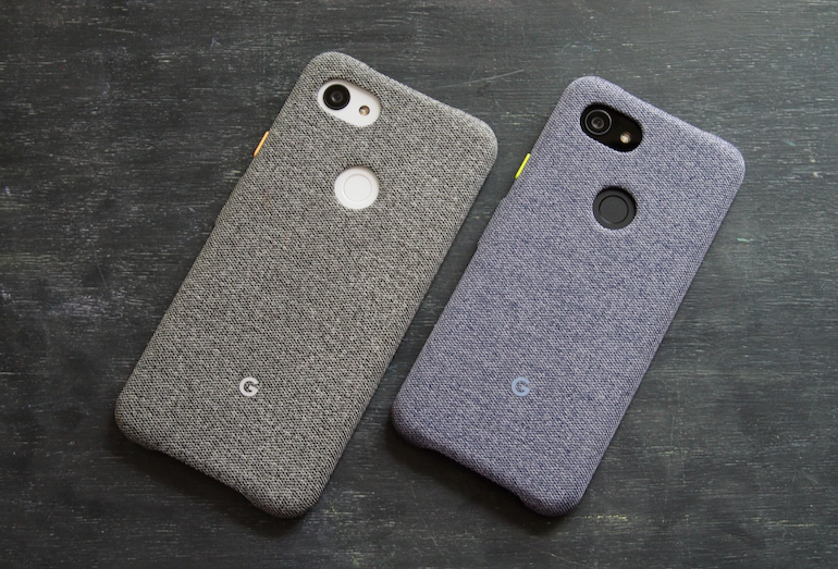 Google Pixel 3a and 3XL side to side case on 1