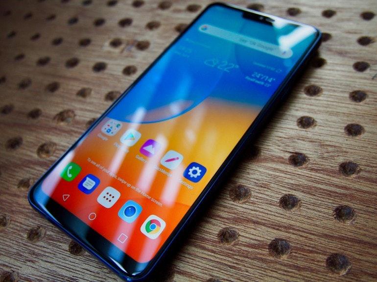 LG G7 ThinQ homescreen