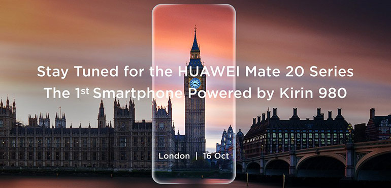 Huawei Mate 20 to be revealed on 16th October