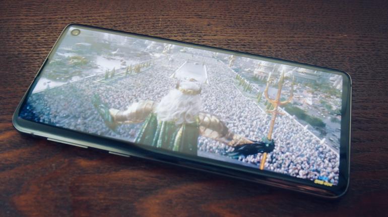 S10 Display showing movie