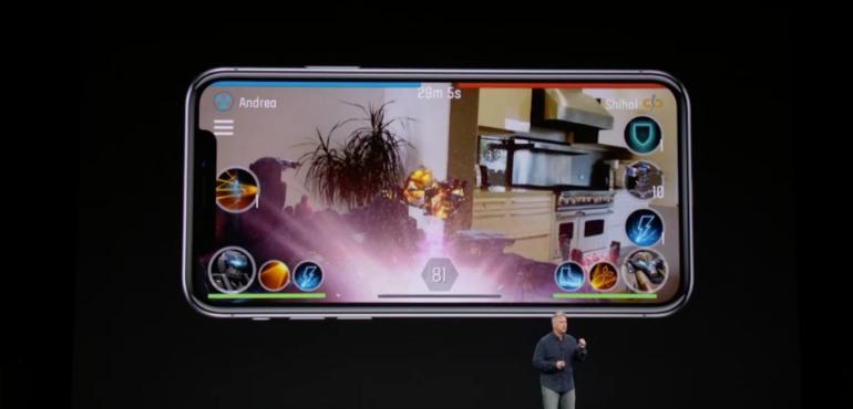 iPhone X AR gaming hero