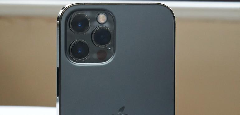 iPhone 12 Pro camera closeup hero size