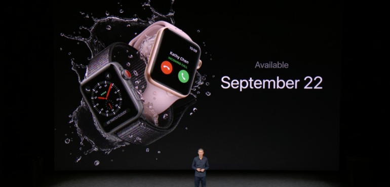 Apple Watch series 3 launch date