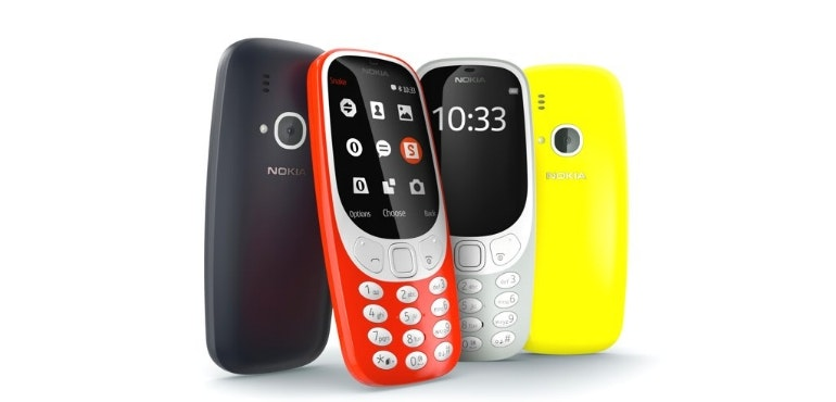 Nokia 3310 4 colours hero image