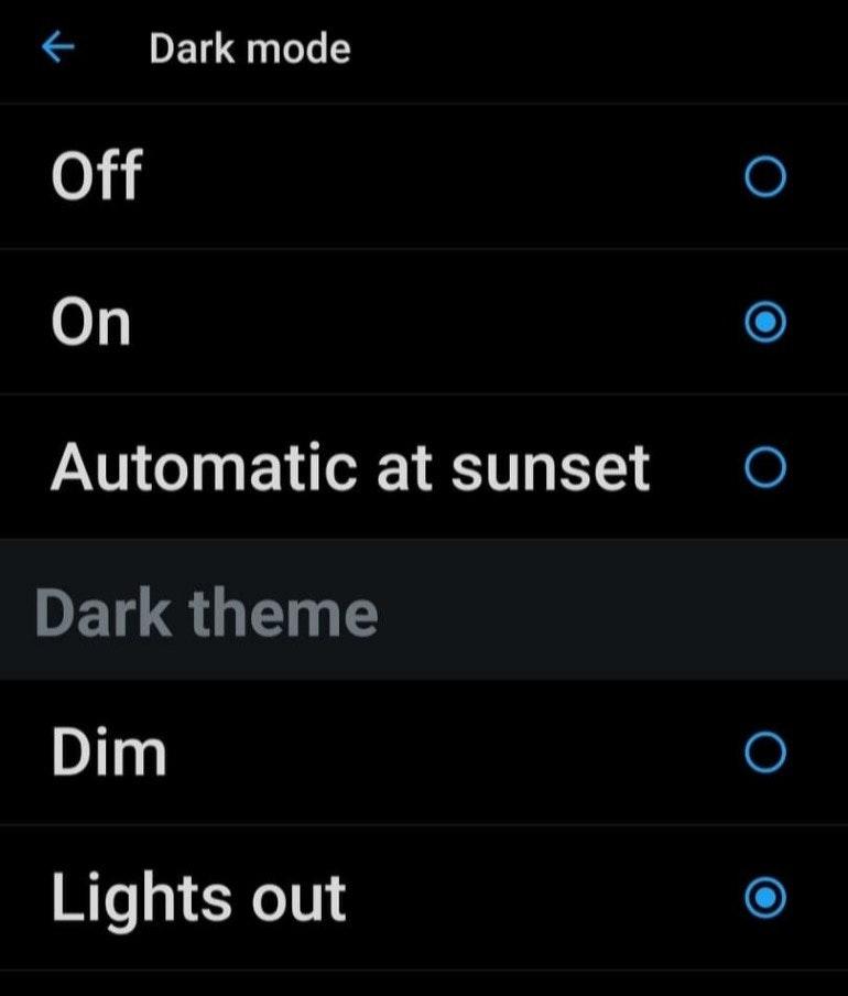 Twitter Dark Mode screenshot