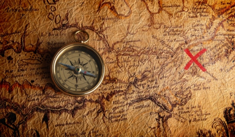 X treasure map