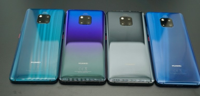 Huawei Mate 20 Pro backs all colourways